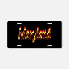 Maryland Flame Aluminum License Plate