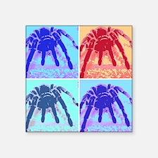 "Rosehair Pop Art Square Sticker 3"" x 3"""