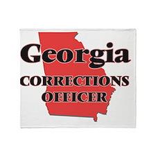 Georgia Corrections Officer Throw Blanket