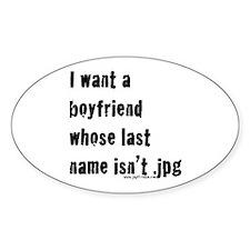 Boyfriend Oval Decal