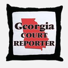 Georgia Court Reporter Throw Pillow