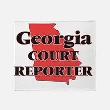 Georgia Court Reporter Throw Blanket