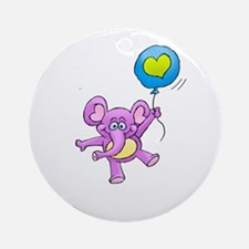 cute cuddly floating critters. Round Ornament