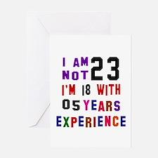 23 Birthday Designs Greeting Card