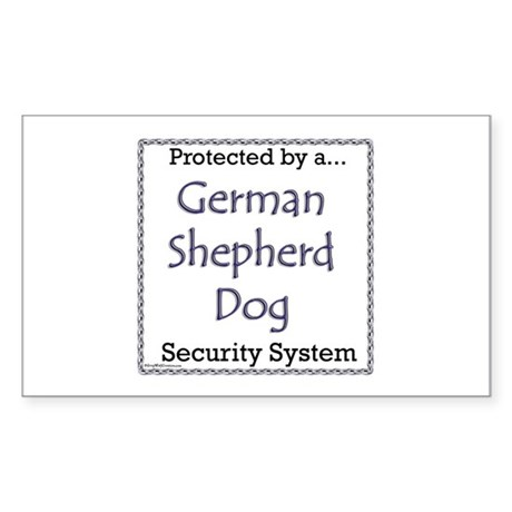 GSD Security Rectangle Sticker