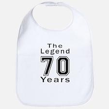 70 Legend Birthday Designs Bib