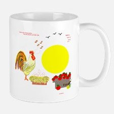 Rooster/Sun/Worm/Apples/Eggs/ Mug