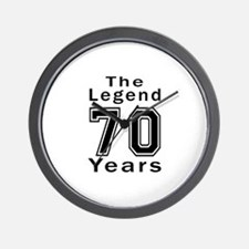 70 Legend Birthday Designs Wall Clock