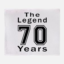 70 Legend Birthday Designs Throw Blanket