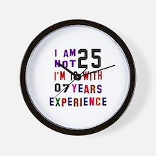25 Birthday Designs Wall Clock