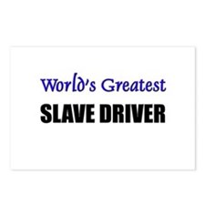 Worlds Greatest SLAVE DRIVER Postcards (Package of