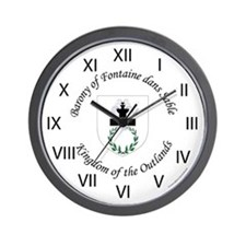 Fontaine Dans Sable Wall Clock