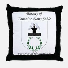 Fontaine Dans Sable Throw Pillow