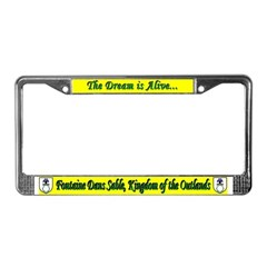 Fontaine Dans Sable License Plate Frame