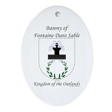 Fontaine Dans Sable Oval Ornament