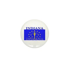 Indiana State Flag Mini Button (10 pack)