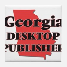 Georgia Desktop Publisher Tile Coaster