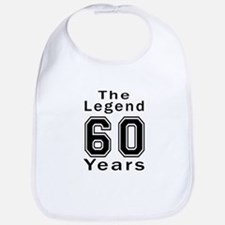 60 Legend Birthday Designs Bib