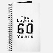 60 Legend Birthday Designs Journal