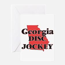 Georgia Disc Jockey Greeting Cards