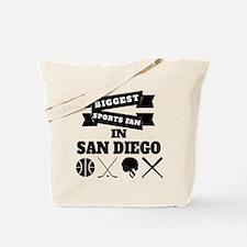 Biggest Sports Fan In San Diego Tote Bag