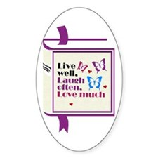 Love Much Oval Decal