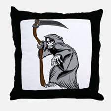 Grim Creaper Throw Pillow