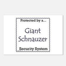 Giant Schnauzer Security Postcards (Package of 8)