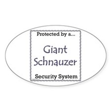 Giant Schnauzer Security Oval Decal