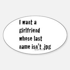 Girlfriend Oval Decal