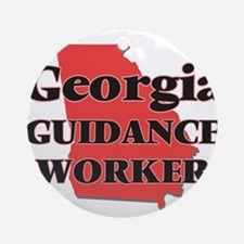 Georgia Guidance Worker Round Ornament