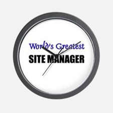 Worlds Greatest SITE MANAGER Wall Clock