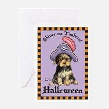 Yorkie Pirate Greeting Card
