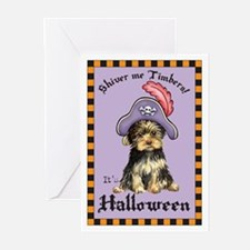 Yorkie Pirate Greeting Cards (Pk of 10)