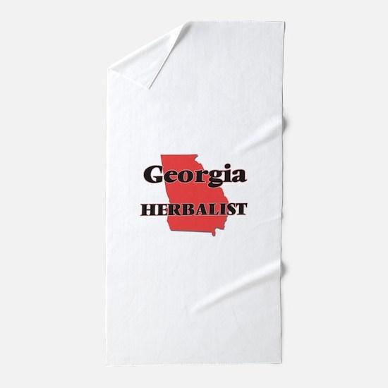 Georgia Herbalist Beach Towel