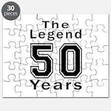 50 Legend Birthday Designs Puzzle