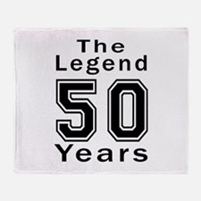 50 Legend Birthday Designs Throw Blanket