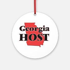 Georgia Host Round Ornament