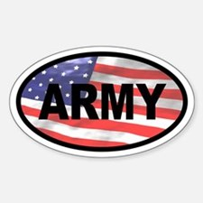 American Flag ARMY Oval Decal
