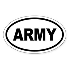 Basic ARMY Oval Decal