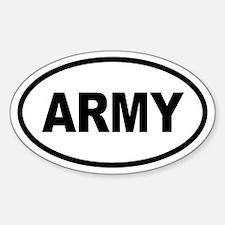 Basic ARMY Oval Decal
