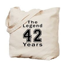 42 Legend Birthday Designs Tote Bag