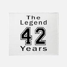 42 Legend Birthday Designs Throw Blanket