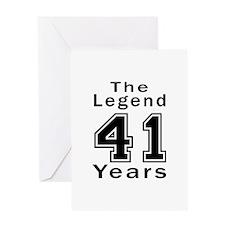 41 Legend Birthday Designs Greeting Card