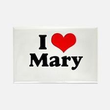 I Heart Mary Rectangle Magnet