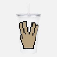 Spock hand sign - nerd Acrylic Double-wall Tumbler