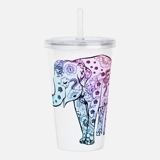 Funny Elephant Acrylic Double-wall Tumbler