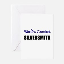 Worlds Greatest SILVERSMITH Greeting Cards (Pk of