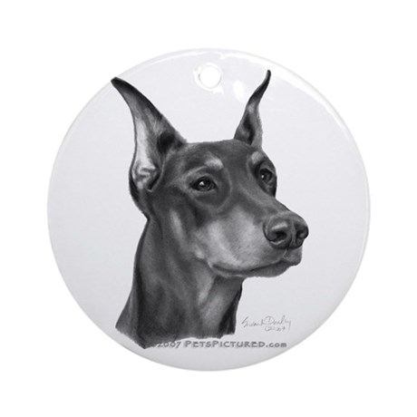 Doberman Pinscher Ornament (Round)