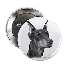 """Doberman Pinscher 2.25"""" Button (10 pack)"""
